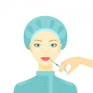 Cosmetic procedure of Botox injection